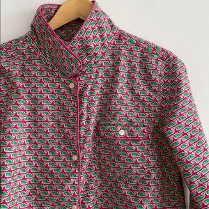Vineyard Vines flannel whale print pajama top